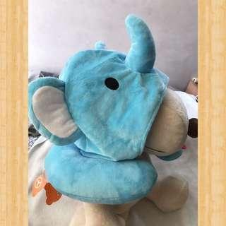 🚚 可愛艾芬象帽子頸枕_大象_材質厚實_非常溫暖💕