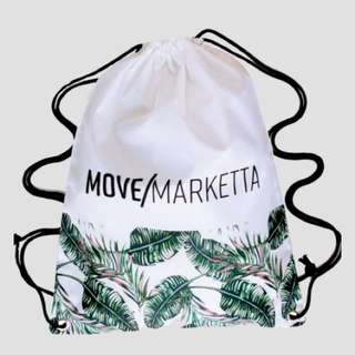 Brand new move marketta tropical thunder Drawstring Bag