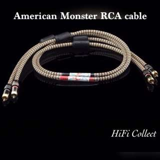 美國怪獸發燒級RCA音頻信號線 1 meter American Monster high end class RCA signal audio line