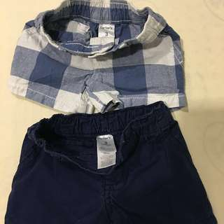 Brand new Carter's boys shorts for 0-3 months