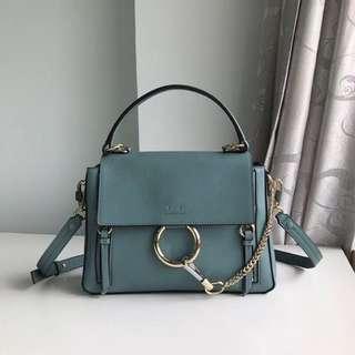 Chloe Faye  Day Leather Top Handle Bag Blue