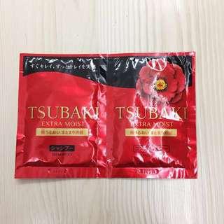 日本 Tsubaki extra moist 洗頭水 & 護髮素 12ml
