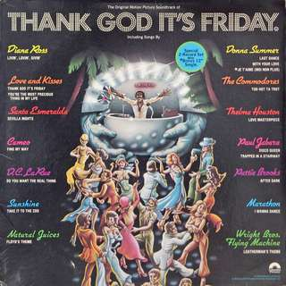 Thank God It's Friday soundtrack on vinyl LP