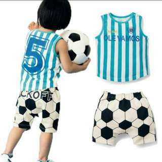 Baby Boy Cotton Kickoff Soccer Set