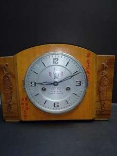 五十年代寿星牌机械钟32x20cm