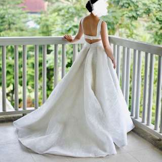 Amante Couture wedding gown for a petite bride