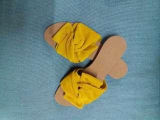 HOT! HOT! HOT! Yellow Slip On sandals