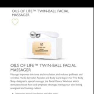 🙀NOW:$19.80!!! 💪🏻FIGHT GRAVITY!!! ❤️GET A GOOD FACIAL WORKOUT!!! ✨ELASTICITY。✨FIRMNESS✨MOST AFFORDABLE。😃SUCKING LIFTING EFECFT U CAN FEEL WORKING!!  😃The Body Shop Oils Of Life Twin Ball V Shape Facial Massager