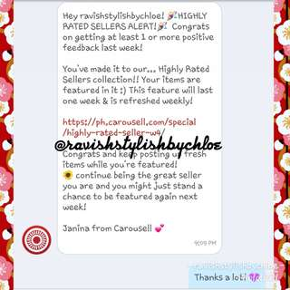 18th commendation from Carousell! 💜