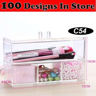 Clear Acrylic Transparent Make Up Makeup Cosmetic Jewellery Jewelry Organiser Organizer Drawer Storage Box Holder (C54)
