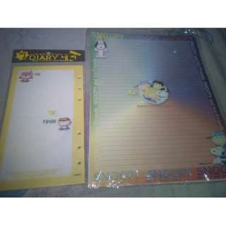 Snoopy stationary paper