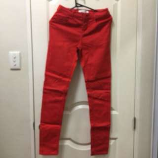 F21 red pants