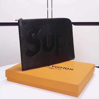 LV x SUPREME Ori Quality   ( Black )