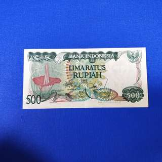 Old Indonesia banknotes 500Rup UNC