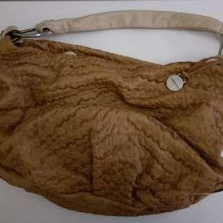 RABEANCO 啡色羊仔皮手袋 (95%new)