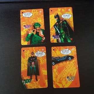 絕版蝙蝠俠地鐵儲值票