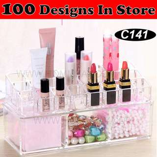 Clear Acrylic Transparent Make Up Makeup Cosmetic Jewellery Jewelry Organiser Organizer Drawer Storage Box Holder (C141)