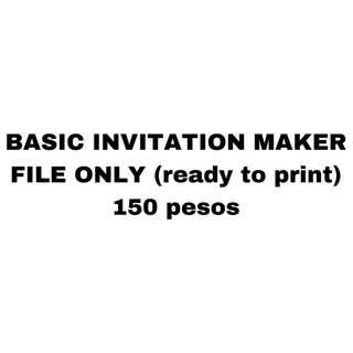 BASIC INVITATION