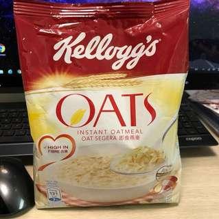 買任何物品免費送你 Kellogg's instant oatmeal 即食燕麥 麥皮