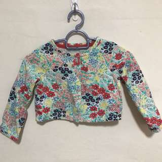 New Carter's Floral Sweater Jacket Cardigan