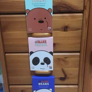 [INSTOCK] WE BARE BEARS EYE MASKS (GRIZZLY, PANDA, ICE BEAR)
