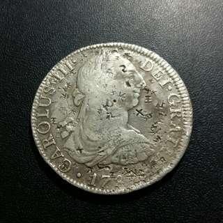 少有 西班牙卡洛斯三世貿易幣曾在中國使用