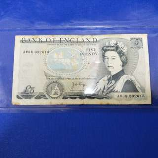 Old England banknotes $5Pound