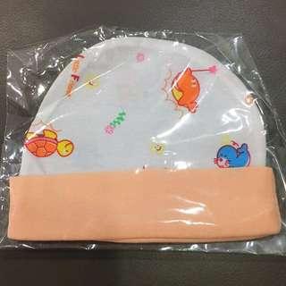 Newborn Baby Infant Cap (Orange Color)