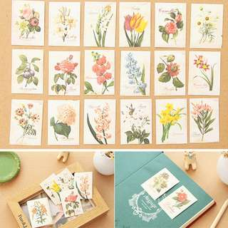 Floral Label Stickers