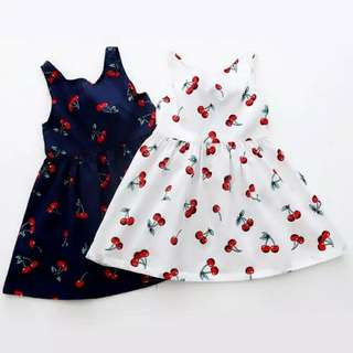 (New) Dress anak motif cherry