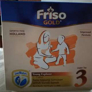 Friso gold step 3 improved formula