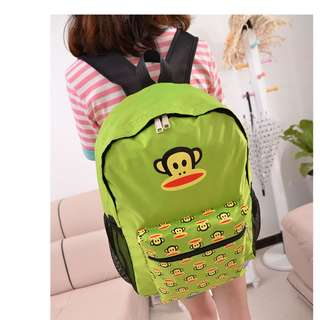 FASHION MONKEY DESIGN SHOULDER/FOLDABLE BAG (Z226)