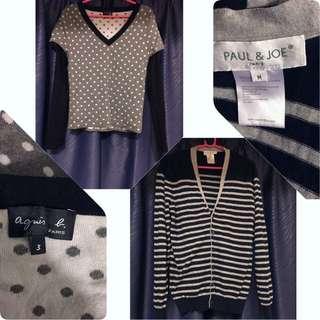 Paul&Joe cashmere + Agnes b cashmere sweater