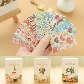 Cute Patterns Label Stickers