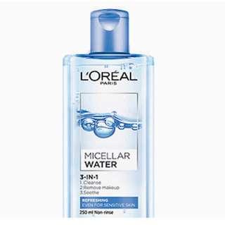 L'Oreal Micellar Water Refreshing 3-in-1