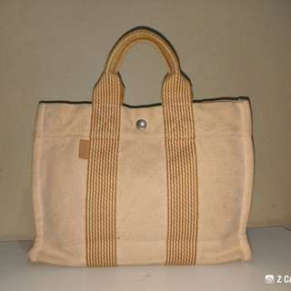 Tote Bag Fabric Authentic Hermes-Paris