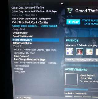 Steam account, with hacked games