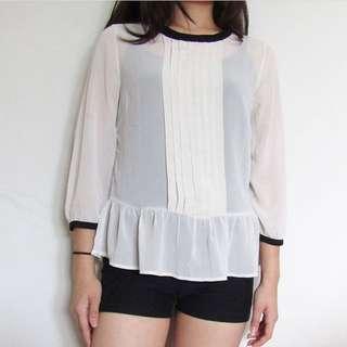 F21 white blouse