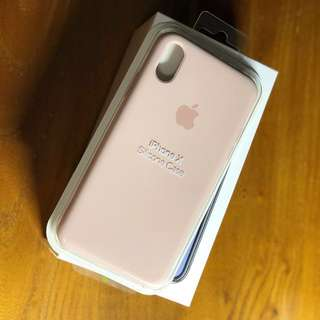 iPhone X Silicon Case - Pink Sand