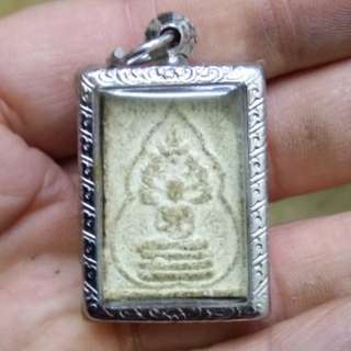 Thai amulet phra naprok lek blessed by lp tim wat lahanrai for another temple 2514 with his yant behind