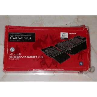 Gaming keyboard Microsoft X6 sidewinder