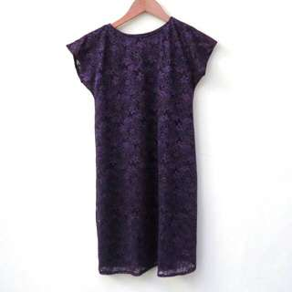#awaltahun Purple Brokat Dress