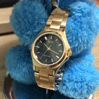 Casio金表黑面手錶