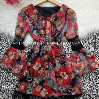 Floral dress / Kawai dress