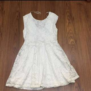 Cotton on off white lace dress