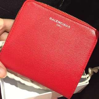 Banlenciaga 新季銀包,真品全新,購於巴黎;新季紅色,有單~減買時掃貨,官網同款售價2500~