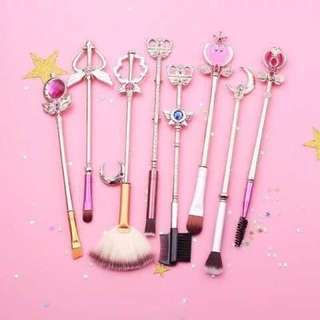 Sailor moon brush set 8 magnificent eyeshadow brush