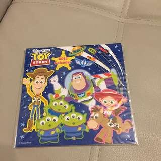 Toy story 反斗奇兵 胡廸 巴斯光年 月曆 calendar