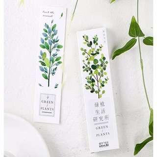 Green Plants Bookmarks (30pcs)