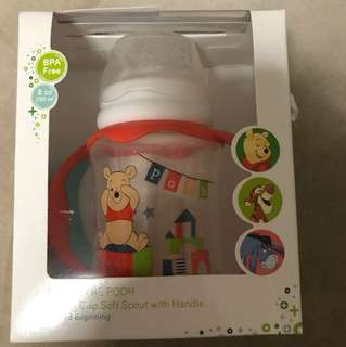 Winnie the Pooh Training Cup Soft Pout with Handle